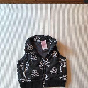 Disney skull puffer vest